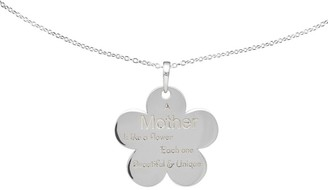 Sterling Mother Flower Pendant w/Chain by Silver Style