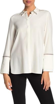 Lafayette 148 New York Katja Long Sleeve Silk Blouse