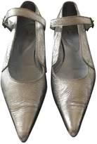 Yohji Yamamoto Silver Leather Ballet flats