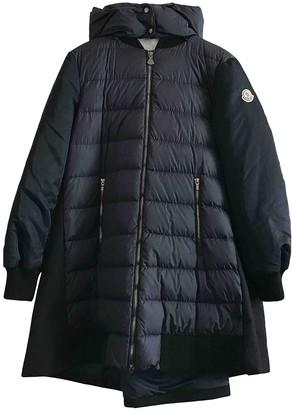 Moncler Long Navy Wool Coats