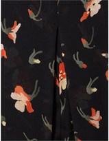 Vilshenko Black Silk Floral Kristina Dress