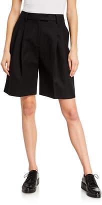 KHAITE Bailey Pleated-Front Shorts