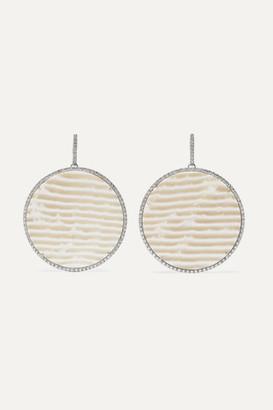 Of A Kind Kimberly McDonald - Net Sustain 18-karat White Gold, Chalcedony And Diamond Earrings