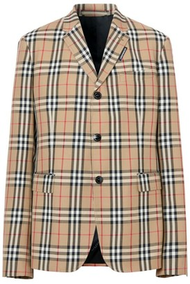 Burberry Vintage Check Tailored Jacket