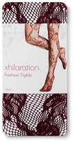 Xhilaration Women's Tights Floral Two Tone Cherry