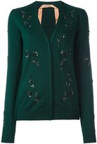 No.21 embellished cardigan - women - Polyester/PVC/Virgin Wool - 40