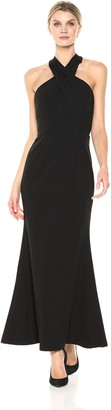 JS Collections Women's Halter Column Gown