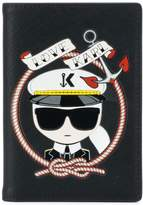 Karl Lagerfeld Captain passport holder