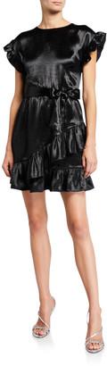 MICHAEL Michael Kors Short-Sleeve Ruffle Wrap Dress