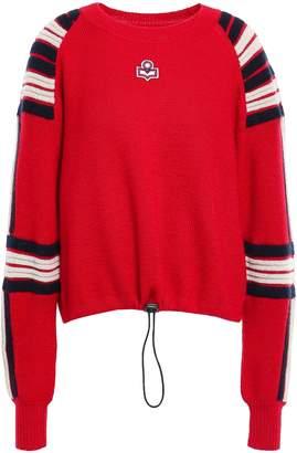 Etoile Isabel Marant Appliqued Melange Intarsia Wool Sweater