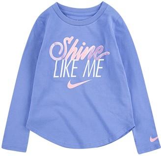 Nike Baby Girl Jersey Long Sleeve Logo Tee