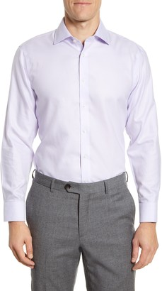 The Tie Bar Trim Fit Solid Textured Dress Shirt