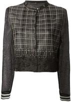 Aviu mesh crop jacket