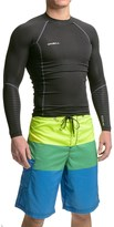 O'Neill O'Zone Compression Rash Guard - UPF 40+, Long Sleeve (For Men)