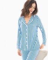 Soma Intimates Long Sleeve Notch Collar Pajama Top