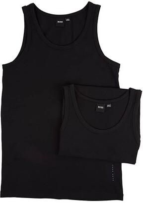 HUGO BOSS Tank Top 2-Pack CO/EL 10194356 01 (Black) Men's Sleeveless