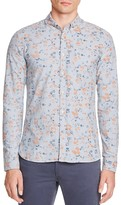 Scotch & Soda Faded Floral Slim Fit Button Down Shirt