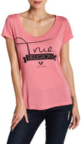 True Religion Banner Script Short Sleeve Tee