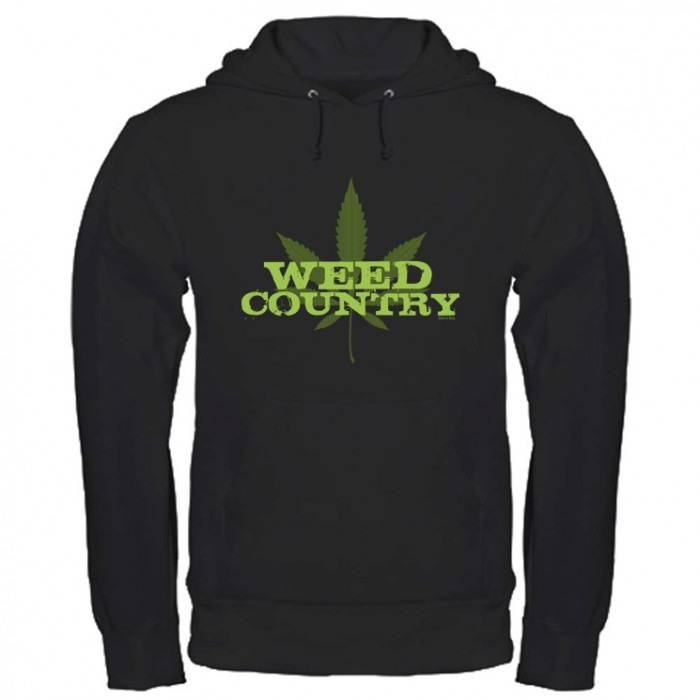 Discovery Weed Country Green Logo Hoodie - Black