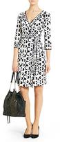 Diane von Furstenberg Banded Julian Silk Jersey Wrap Dress In Hex Maze Black