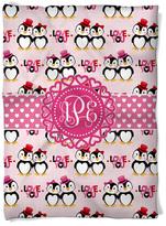 Penguin Love Monogram Blanket