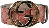 Gucci Supreme Canvas Interlocking G Buckle Belt 114876 8374