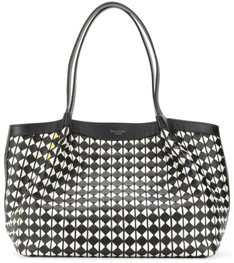 SERAPIAN Diamond Print Tote Bag