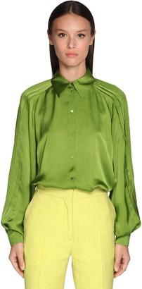 Rochas Pleated Satin Shirt