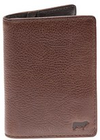 Will Leather Goods Men's 'Clyde' Front Pocket Wallet - Brown