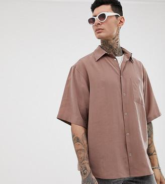 Heart N Dagger oversized shirt in dusty pink