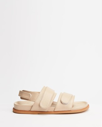 James Smith JAMES | SMITH - Women's Brown Flat Sandals - Atrani Slides - Size 38 at The Iconic