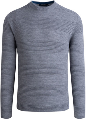 Bugatchi Men's Block-Rib Knit Merino Wool-Blend Sweater