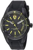 Ferrari Men's 'RedRevT' Quartz Stainless Steel and Rubber Casual Watch, Color:Black (Model: 830426)