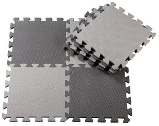 Anstel Puzzle Floor Mat 24 Pack -Dark Grey/Light Grey