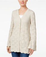Style&Co. Style & Co. Ribbed Scalloped-Hem Cardigan, Only at Macy's