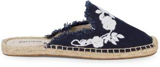 Soludos Fringed Floral Espadrille Mules