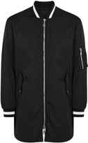Kenzo Black Embroidered Shell Bomber Jacket