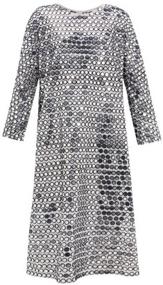 Ashish Mirror-applique Side-slit Tunic - Womens - White