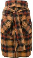 Faith Connexion plaid shirt-style skirt