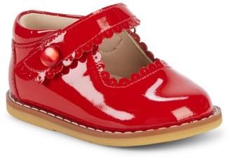 Elephantito Baby's Scallop Patent Leather Mary Jane Flats