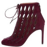 Alaia Laser Cut Leather Ankle Bootie w/ Tags