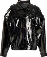David Koma Oversized Patent Leather Jacket