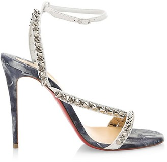 Christian Louboutin Mafaldina Spike Denim Sandals