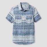 Cat & Jack Boys' Short Sleeve Woven Button Down Shirt Cat & Jack - Blue