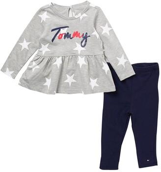 Tommy Hilfiger Brand Logo Tunic & Leggings 2-Piece Set
