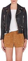 Saint Laurent Women's Painted Leather Moto Jacket