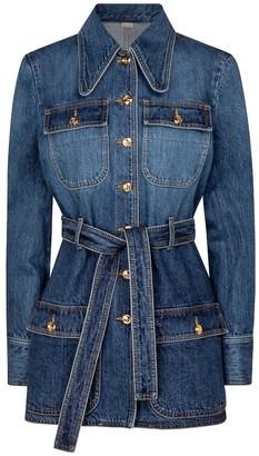 Gucci Belted denim jacket