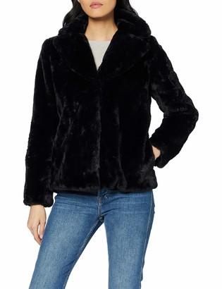 Dorothy Perkins Women's Short Plush Collar Revere Coat