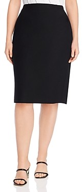 Eileen Fisher Plus High-Waisted Pencil Skirt