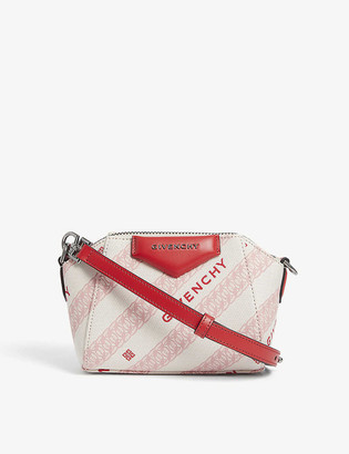 Givenchy Antigona Nano leather canvas tote bag